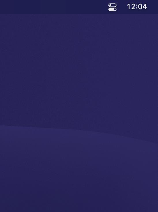 An icon-free desktop.